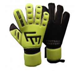 Rękawice bramkarskie FOOTBALL MASTERS TRAINING FLUO BLACK AQUA MIXCUT FR