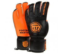 Rękawice bramkarskie FOOTBALL MASTERS CLASSIC BLACK ORANGE AQUA GRIP MIXCUT