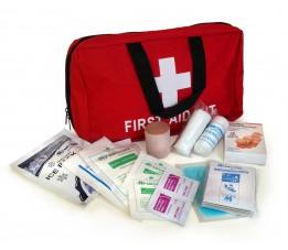 Apteczka z wyposażeniem, torba medyczna