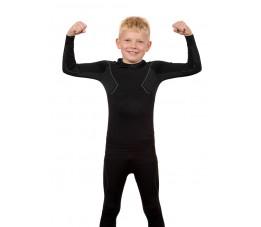 Komplet Bielizny termoaktywnej Alpinus Active Set Junior (Koszulka + Spodnie) Czarny