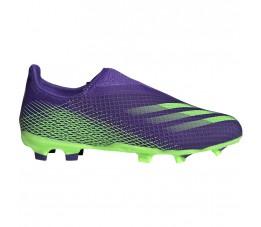 Buty piłkarskie adidas X Ghosted.3 LL FG Junior fioletowo-zielone EH2015