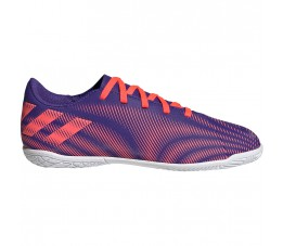 Buty piłkarskie adidas Nemeziz.4 IN Junior fioletowo-różowe EH0587