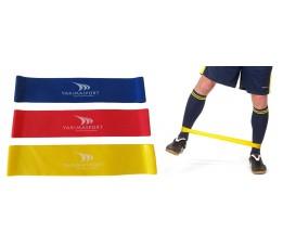 Guma fitness - zestaw 3 gum (niebieska, czerwona, żółta)