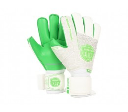 Rękawice bramkarskie VOLTAGE WHITE GREEN CONTACT GRIP 4 MM RF v 3.0
