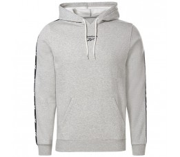 Bluza męska Reebok Training Essentials Tape Hoodie szara GU9959