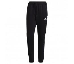 Spodnie męskie adidas Essentials Tapered Cuff 3 Stripes czarne GK8967