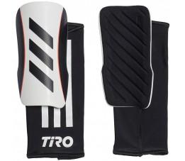 Ochraniacze piłkarskie adidas Tiro SG LGE biało-czarne GK3534