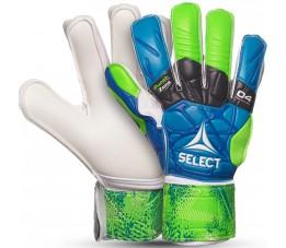 Rękawice bramkarskie Select 04 Protection Flat Cut 2019 niebiesko zielono białe